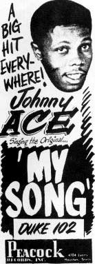 Johnny Ace ad for My Song