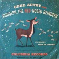 Rudolph, The Red Nosed Reindeer by Gene Autry record sleeve cover