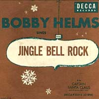 Jingle Bell Rock by Bobby Helms record sleeve cover