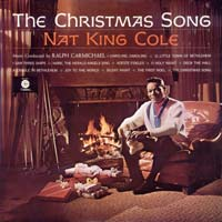 The Christmas Song by Nat King Cole record sleeve cover