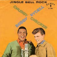 Jingle Bell Rock by Chubby Checker & Bobby Rydell record sleeve cover