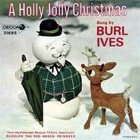 Holly Jolly Christmas by Burl Ives record sleeve cover
