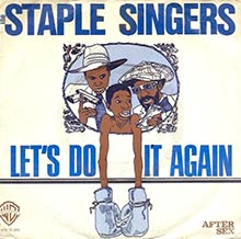 Let's Do It Again by The Staple Singers 7inch single sleeve