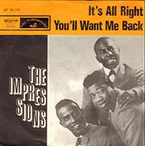 It's Alright by the Impressions 7inch single sleeve