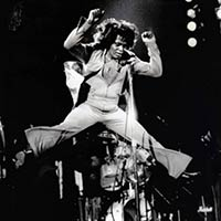 James Brown jumping up