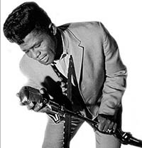 James Brown leaning in