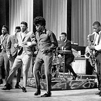 James Brown on stage with the Famous Flames