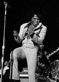 James Brown on stage feeling the music
