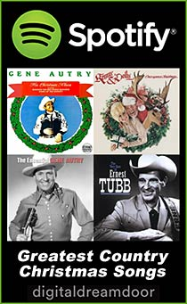 Spotify Greatest Country Christmas Songs playlist link image
