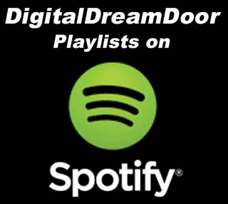 Spotify digitaldreamdoor playlists link button