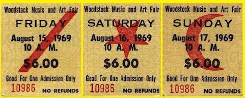 woodstock 1969 tickets