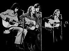 Crosby, Stills, Nash, and Young at woodstock 1969