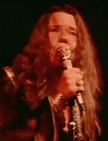 Janis Joplin playing at woodstock 1969
