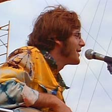 John B. Sebastian playing at woodstock 1969