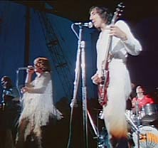 The Who playing at woodstock 1969