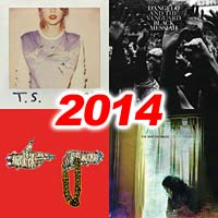 2014 record album covers for 1989, Black Messiah, Run the Jewels II, and Lost in the Dream