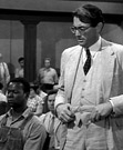 Scene from the movie To Kill A Mockingbird with Gregory Peck
