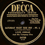 Saturday Night Fish Fry - record lable