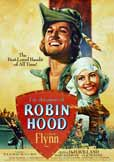 Poster for the 1938 movie The Adventures of Robin Hood