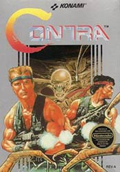 Contra NES game box cover