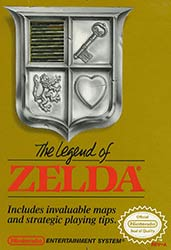The Legend of Zelda NES game box cover