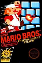 Super Mario Bros NES game box cover