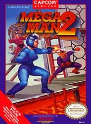 Mega Man 2 NES game box cover