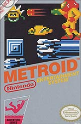 Metroid NES game box cover