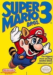 Super Mario Bros 3 NES game box cover