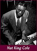 jazz singer Nat King Cole