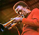 Miles Davis in red shirt