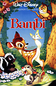 Bambi - 1942 movie DVD cover