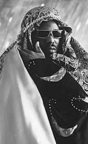 Afrika Bambaata in costume