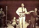 Buddy Holly and singing with band