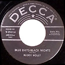 Blue Days, Black Nights 45 single lable