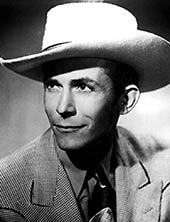 Country music singer Hank Williams
