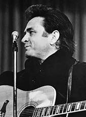 Country music singer Johnny Cash