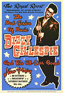 Dizzy Gillespie concert poster