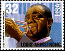Louis Armstrong postage stamp