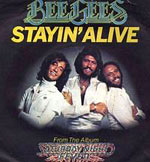 Stayin' Alive - Bee Gees single cover