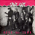 Rock This Town - Stray Cats single cover