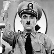 scene from The Great Dictator with Charlie Chaplin