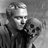scene from Hamlet with Laurence Olivier