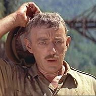 scene from The Bridge on the River Kwai with Alec Guinness