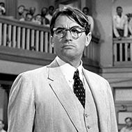 scene from To Kill a Mockingbird with Gregory Peck