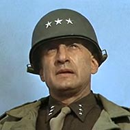 scene from Patton with George C. Scott