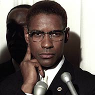 scene from Malcolm X with Denzel Washington