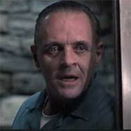 scene from The Silence of the Lambs with Anthony Hopkins