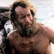 scene from Cast Away with Tom Hanks