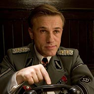 scene from Inglourious Basterds with Christoph Waltz